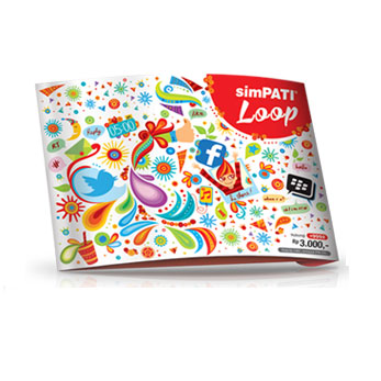 Simpati Loop 1 Bulan Paket Blackberry Gaul Service atau Internet 12GB