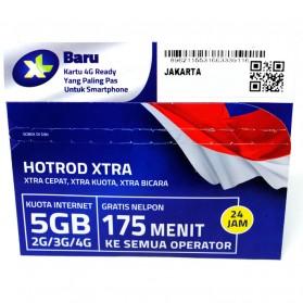 Kartu Perdana XL HOTROD XTRA Kuota 5GB + 175 Menit (All Operator) (SUDAH AKTIF)