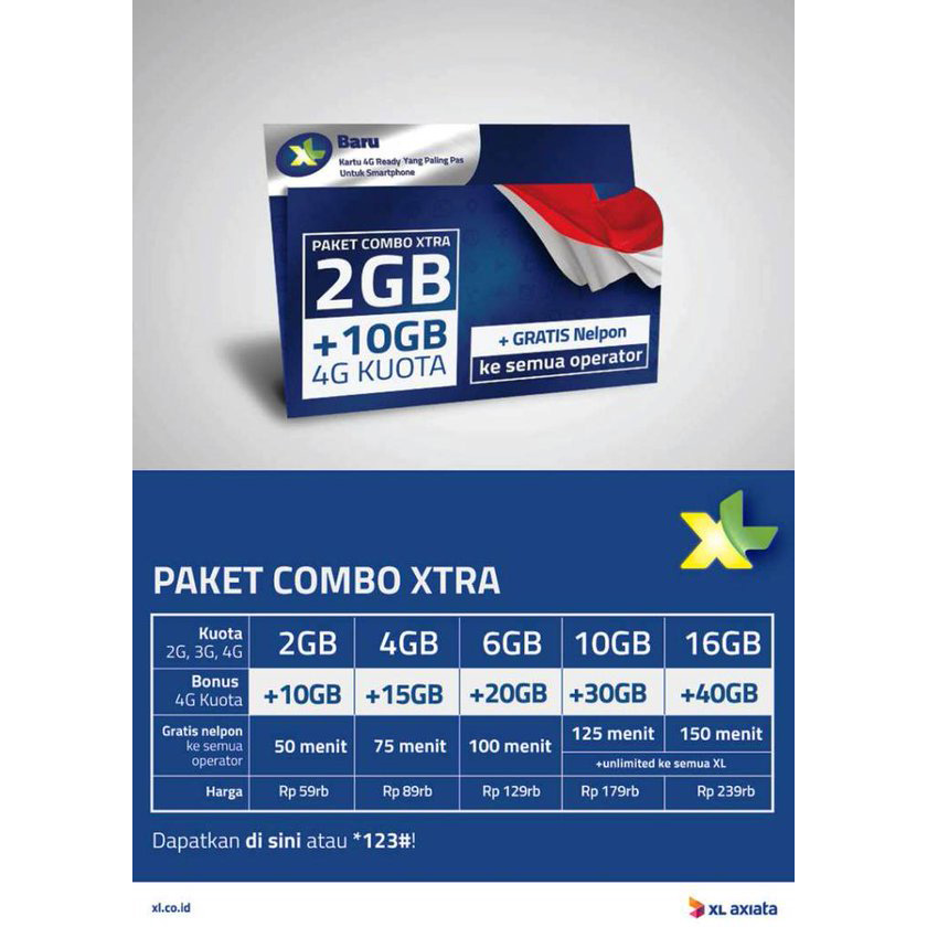 kartu perdana xl xtra internet kuota 4gb 15gb sudah aktif 12