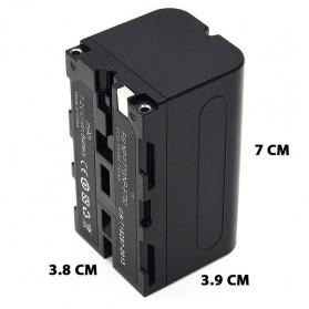 Baterai Kamera NP-F770 NP-F750 for Sony NP-F550 NP-F770 NP-F750 F960 F970 - Black - 8