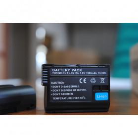 Abdo Baterai Kamera EN-EL15b for Nikon Z6 Z7 D850 D810 D750 D610 D7500 D7200 2PCS - Black - 2