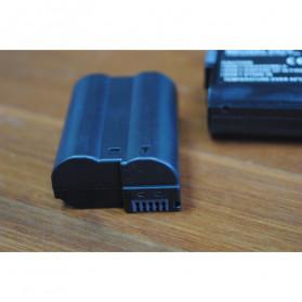 Abdo Baterai Kamera EN-EL15b for Nikon Z6 Z7 D850 D810 D750 D610 D7500 D7200 2PCS - Black - 3