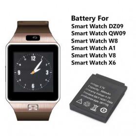Baterai Smartwatwch DZ09 QW09 W8 A1 V8 X6 380mAh - RYX-NX9 - Black - 4