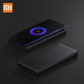 Xiaomi Qi Wireless Charging Power Bank USB Type C 10000mAh (Replika 1:1) - PLM11ZM - Black