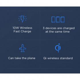 Xiaomi Qi Wireless Charging Power Bank USB Type C 10000mAh (Replika 1:1) - PLM11ZM - Black - 3