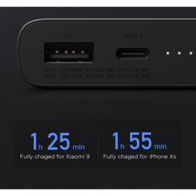 Xiaomi Qi Wireless Charging Power Bank USB Type C 10000mAh (Replika 1:1) - PLM11ZM - Black - 6