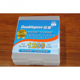 Doublepow Transparent Battery Case for 4 x AA - Transparent