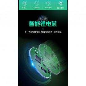 Doublepow Baterai Cas Type D Rechargeable Micro USB 500mAh - Black - 6