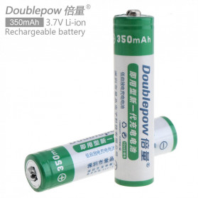 DOUBLEPOW Batu Baterai Li-ion Rechargeable AAA 10440 350mAh 2 PCS