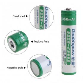 DOUBLEPOW Batu Baterai Li-ion Rechargeable AAA 10440 350mAh 2 PCS - 3