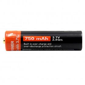 Doublepow Baterai Cas 14500 Rechargeable Micro USB 750mAh - Black