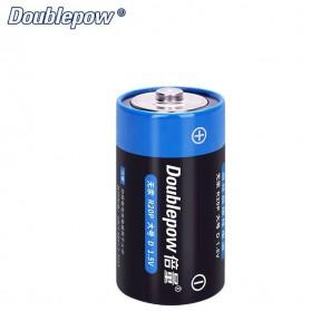 DOUBLEPOW Baterai Dry Cell Size D R20P 1.5V 2 PCS - Black/Blue