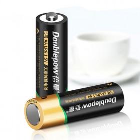 DOUBLEPOW Baterai  Alkaline AA LR6 1.5V 4 PCS - Black