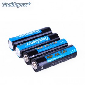 DOUBLEPOW Baterai Alkaline AA UM-3 R6P 1.5V 4 PCS