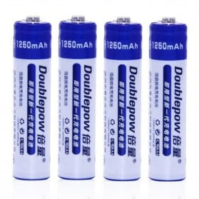 DOUBLEPOW Batu Baterai Alkaline AAA Rechargeable 1250mAh 6 PCS