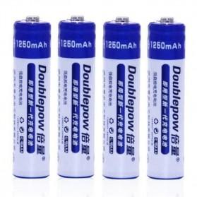 DOUBLEPOW Batu Baterai AAA Rechargeable NiMH 1250mAh 6 PCS