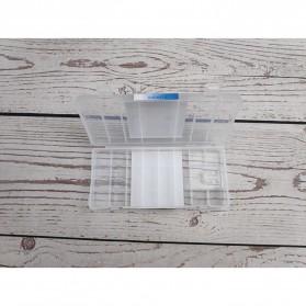 Kotak Baterai Doublepow Transparent Battery Case for 6 x AA Battery - Transparent - 3
