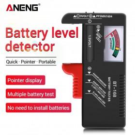 Charger Baterai Senter dan Alat Elektronik - ANENG Tester Baterai Capacity Checker AA AAA Display Analog - BT-168 - Black