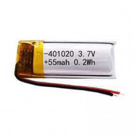 Antirr Baterai Lithium Polymer 401020 100mAh 3.7V