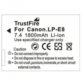 TrustFire Baterai Kamera Canon EOS 550D LP-E8 (Replika 1:1) - Gray - 3