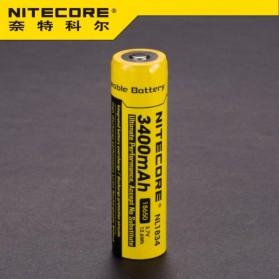NITECORE 18650 Rechargeable Li-ion Battery 3400mAh 3.7V - NL1834 - Black/Yellow - 2