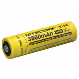 NITECORE 18650 Baterai Li-ion 3500mAh 3.6V - NL1835 - Black/Yellow