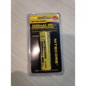NITECORE 18650 Baterai Li-ion 3500mAh 3.6V - NL1835 - Black/Yellow - 4
