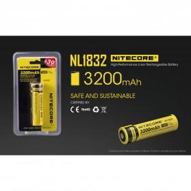 NITECORE 18650 Baterai Li-ion 3200mAh 3.7V - NL1832 - Black/Yellow - 2
