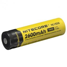 NITECORE 18650 Baterai Li-ion 2600mAh 3.7V - NL1826 - Black/Yellow