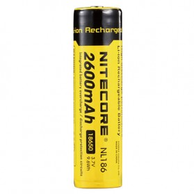 NITECORE 18650 Baterai Li-ion 2600mAh 3.7V - NL1826 - Black/Yellow - 2