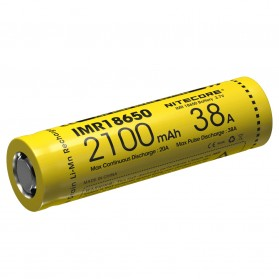 NITECORE IMR18650 Baterai Vape 2100mAh 38A 3.7V - Yellow