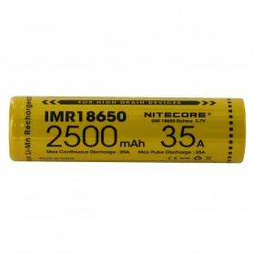 NITECORE IMR18650 Baterai Vape 2500mAh 35A 3.7V - Yellow - 2