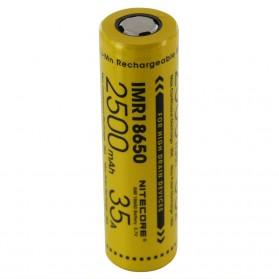 NITECORE IMR18650 Baterai Vape 2500mAh 35A 3.7V - Yellow - 4