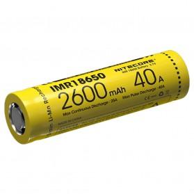 NITECORE IMR18650 Baterai Vape 2600mAh 40A 3.7V - Yellow