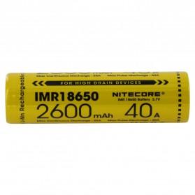 NITECORE IMR18650 Baterai Vape 2600mAh 40A 3.7V - Yellow - 2