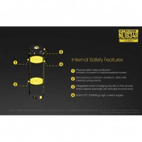 NITECORE 18650 Micro USB Rechargeable Li-ion Battery 3400mAh - NL1834R - Black - 4