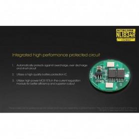 NITECORE 18650 Micro USB Rechargeable Li-ion Battery 3400mAh - NL1834R - Black - 5