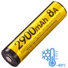 NITECORE 18650 Baterai Li-ion Low Temperature High Performance 2900mAh 3.6V - NL1829LTHP - Black/Yellow