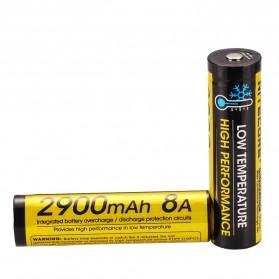 NITECORE 18650 Baterai Li-ion Low Temperature High Performance 2900mAh 3.6V - NL1829LTHP - Black/Yellow - 3