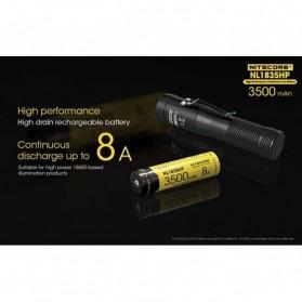 NITECORE 18650 Baterai Li-ion High Performance 3500mAh 3.6V 8A - NL1835HP - Black/Yellow - 2