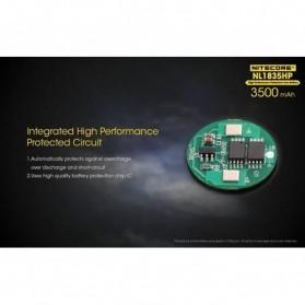 NITECORE 18650 Baterai Li-ion High Performance 3500mAh 3.6V 8A - NL1835HP - Black/Yellow - 4