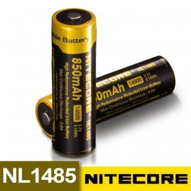 NITECORE 14500 Baterai Li-ion 850mAh 3.7V - NL1485 - Black/Yellow