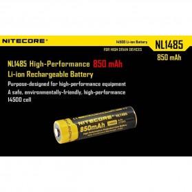 NITECORE 14500 Baterai Li-ion 850mAh 3.7V - NL1485 - Black/Yellow - 5