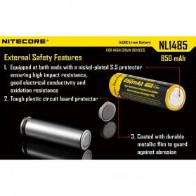 NITECORE 14500 Baterai Li-ion 850mAh 3.7V - NL1485 - Black/Yellow - 6