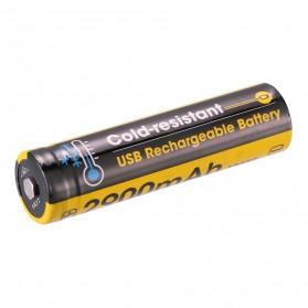 NITECORE 18650 Baterai Li-ion Micro USB Charging Cold-resistant 2900mAh 3.6V - NL1829RLTP - Black/Yellow
