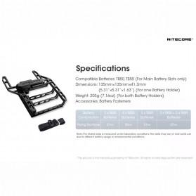 Nitecore DPE1 Drone Power Expander Battery Slot for DJI Inspire 2 - Black - 7
