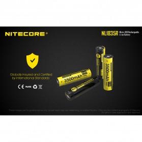 NITECORE 18650 Micro USB Rechargeable Li-ion Battery 3500mAh - NL1835R - Black - 10