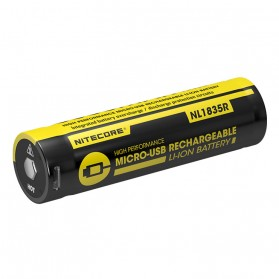 NITECORE 18650 Micro USB Rechargeable Li-ion Battery 3500mAh - NL1835R - Black - 2