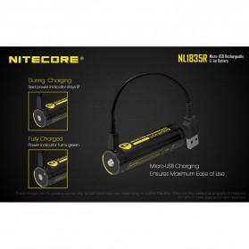 NITECORE 18650 Micro USB Rechargeable Li-ion Battery 3500mAh - NL1835R - Black - 4
