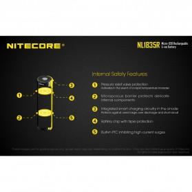 NITECORE 18650 Micro USB Rechargeable Li-ion Battery 3500mAh - NL1835R - Black - 5